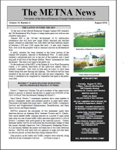 METNA Newsletter August 2014