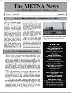 METNA Newsletter August 2015