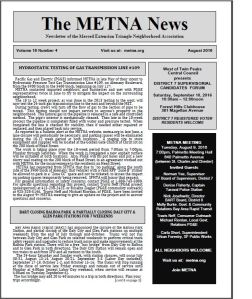 METNA Newsletter August 2016