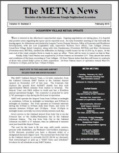 METNA Newsletter February 2015